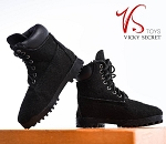 Female Mountain Boots (Black Suede )<BR>PRE-ORDER: ETA Dec. 2018