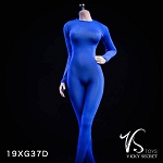 Female Bodysuit with Sleeves (Blue)<BR>PRE-ORDER: ETA Q2 2019