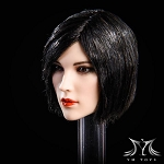 Peyton Female Head Sculpt  - Short Black Hair<BR>PRE-ORDER: ETA Q1 2019<BR>WAIT LIST