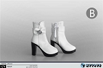 Ankle Boots with Bowtie (White)