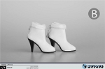 Ankle Boots with Fur Trim (White)