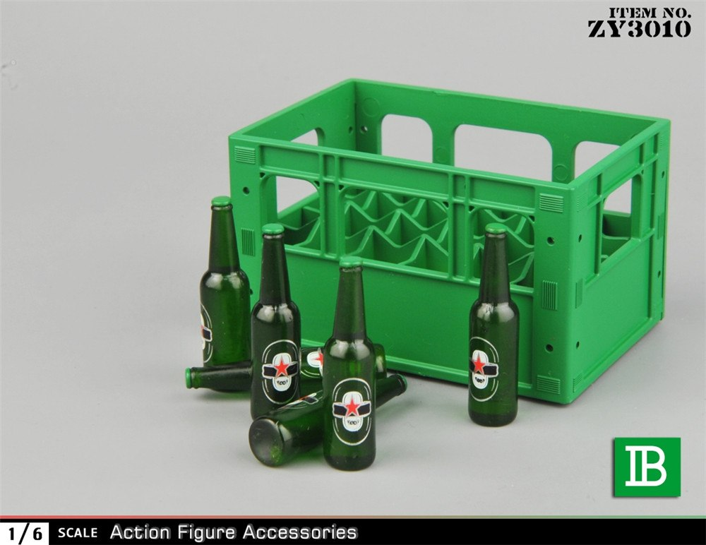 Beer Bottles and Crate Set <BR>PRE-ORDER: ETA Q3 2020