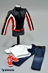 Biker Jacket Set (Red Stripe)<BR>