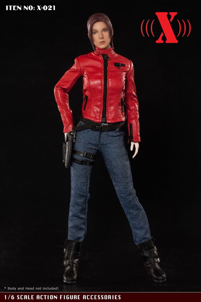 """1//6 Leather Motorcycle Vest Jeans Set For 12/"""" PHICEN Hot Toys Female Figure USA"""