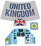 Space Capsule Decal Set<BR>(United Kingdom)<BR>
