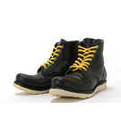 Round Toe Boots (Black)<BR>