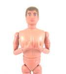 Action Man 40th Anniversary Nude, Blond, Fuzzy, Classic Hands