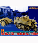 Sd. Kfz.2 Kettenkrad with Trailer<BR>(Cyber Hobby Exclusive)<BR>