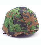 German M40 Helmet with Camo Cover (Oakleaf Spring)