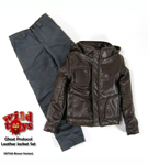 Ghost Protocol Leather Jacket Set<BR> (Brown)<BR>