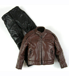 'Leather' Jacket Outfit (Brown)