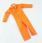 Button Front Jumpsuit (Orange)