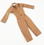 Button Front Jumpsuit (Brown)