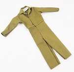 Button Front Jumpsuit (Olive Drab)