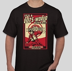 1:1 Scale<BR>'It's a Cots-World' T-Shirt<BR>(Black - 2XL)