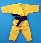 Short Sleeve/Leg Karate Outfit Set (Yellow)