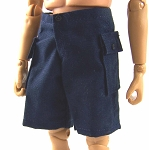 Shorts: Cargo Pockets (Navy Blue Cotton)