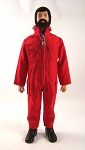 Pocketed Jumpsuit - Red