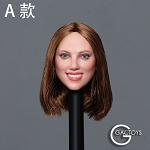 Kate Female Head Sculpt (Brunette)<BR>PRE-ORDER: ETA Q4 2019