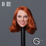 Kate Female Head Sculpt (Red Head)<BR>PRE-ORDER: ETA Q4 2019