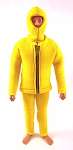 Yellow Scuba Outfit Set (Black Zipper)