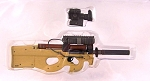 Hot Toys P90 Submachine Gun (tan) with Scope & Silencer