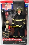 Search and Rescue Firefighter, Black Bunker Gear Vers., Hispanic