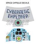 Cybernetic Explorer Space Capsule Decal Set<BR>