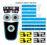 Cybernetic Explorer Pursuit Craft Decal Set<BR>