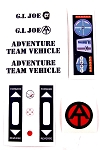 Adventure Team Vehicle<BR>Decal Set