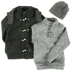 Duffle Coat Set (Black, Hip Length)<br><b>1/3 Off!!</b>
