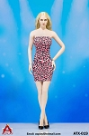 Women's Leopard Print Dress (pink)<BR>