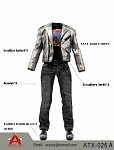 Silver Leather Jacket Set A<BR>PRE-ORDER: ETA Q1 2018