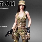 Military Female Outfit Set (MultiCam) with Head Sculpt<BR>PRE-ORDER: ETA Q4 2018