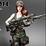 Military Female Outfit Set (Woodland) with Head Sculpt<BR>PRE-ORDER: ETA Q4 2018
