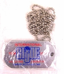 1994 GI Joe Silver Metal Convention Dog Tag Set