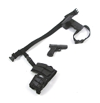 Black Tactical Belt w/Pistol/Holster & MP5/Pistol Mag Sub-Lead