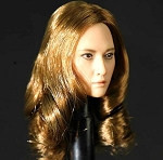 Female Head Sculpt<BR>(Asian Auburn Hair)