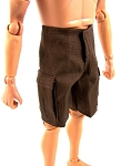 Shorts: Cargo Pockets (Dark Brown)