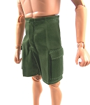 Shorts: Cargo Pockets (Olive Drab, thin cotton)