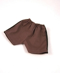 Shorts - Athletic Style (Dark Brown, Black Stripe)