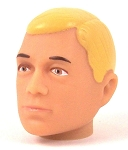 Head - Jake Blonde Painted<BR>(Brown Eyes)