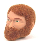 Head - Frank Red Fuzzy with Beard