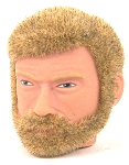 Head - George Blond Fuzzy<BR> with Beard