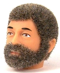 Head - Jake Grey Fuzzy with Beard<BR>