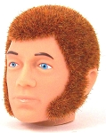 Head - Jake Red Fuzzy with Mutton Chops