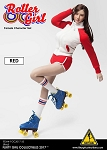 Roller Girl Outfit & Head Sculpt Set (Red)<BR>PRE-ORDER: ETA Q4 2018