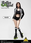 Roller Girl Outfit & Head Sculpt Set (Black)<BR>PRE-ORDER: ETA Q4 2018