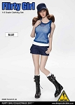 Combat Shorts Fashion Clothing Set (Blue)<BR>PRE-ORDER: ETA Q2 2018