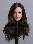Nicole Female Head Sculpt (Long Brunette Hair)<BR>PRE-ORDER: ETA Q2 2018